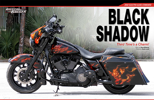 Black Shadow Bagger by C&C Cycle